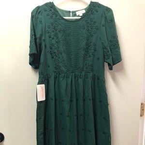 Emerald green dress size Medium